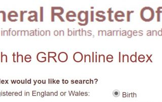 General Register Office Header