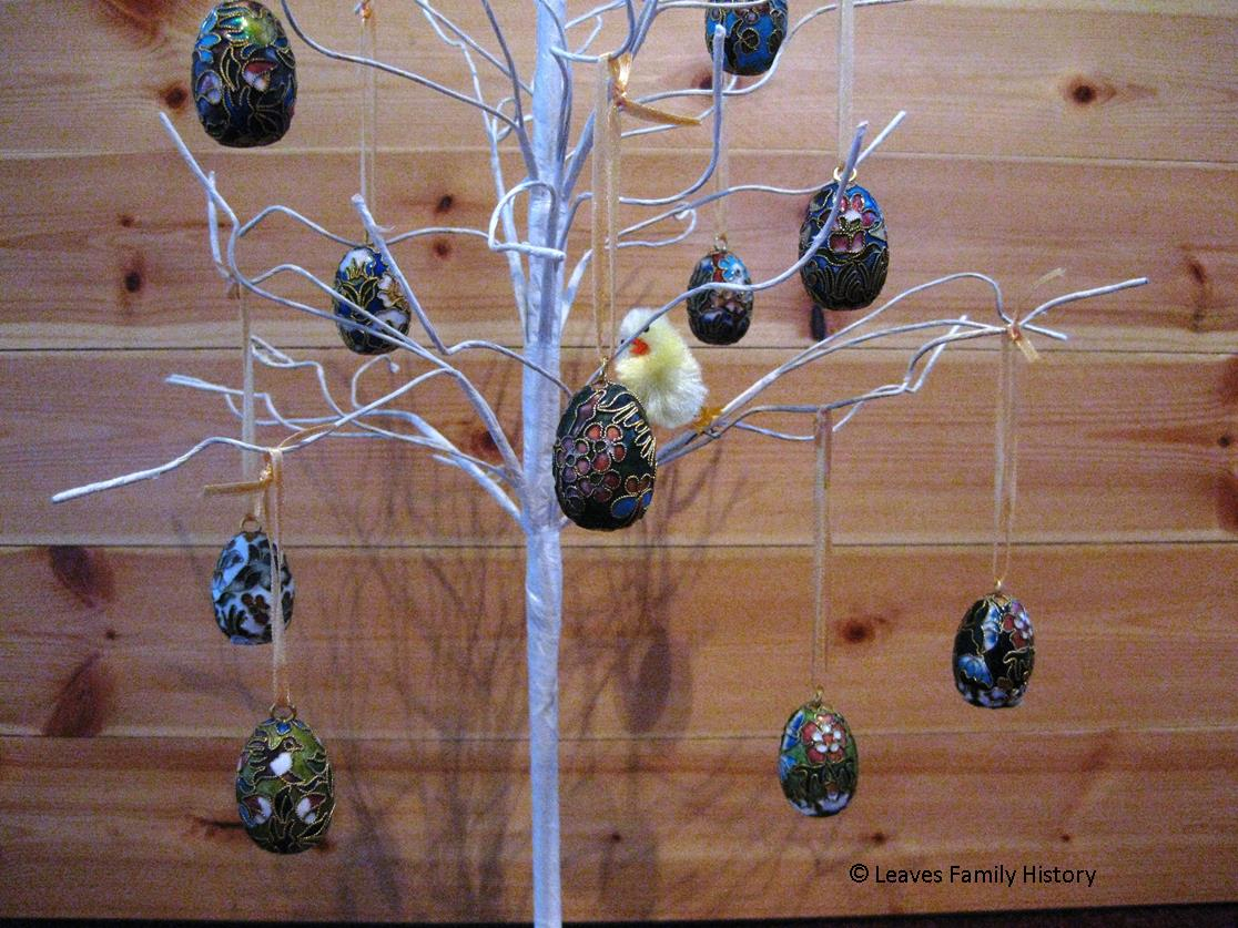 Easter Eggs on a decorative tree