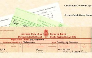 Civil Registration Certificates