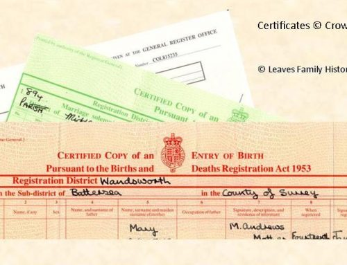 Civil Registration in England and Wales