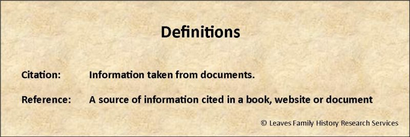 definition of references