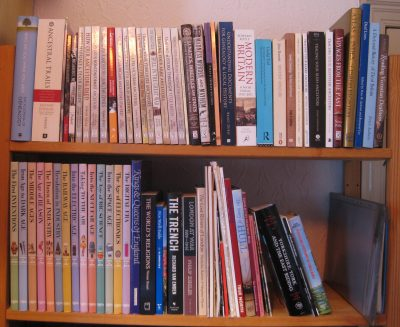 keeping up to date with genealogy and reference books on my bookshelf